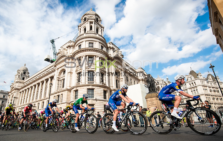 Picture by Alex Whitehead/SWpix.com - 09/09/2018 - Cycling - OVO Energy Tour of Britain - Stage 8: The London Stage. QuickStep-Floors.
