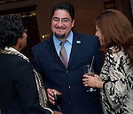 Joyce Wiley, Lone Star College talks with Richard Cantu and Cecillia Saucedo at the East Aldine Strategic Partner Awards