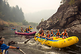 USA, Oregon, Wild and Scenic Rogue River in the Medford District, rafting near Kelsey's Creek