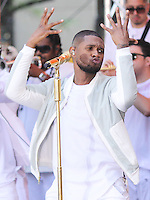 NEW YORK CITY, NY, USA - SEPTEMBER 05: Singer Usher performs on NBC's 'Today' at Rockefeller Plaza on September 5, 2014 in New York City, New York, United States. (Photo by Jeffery Duran/Celebrity Monitor)
