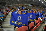 Chelsea FC fans during the International Champions Cup match between Chelsea FC and FC Bayern Munich at National Stadium on July 25, 2017 in Singapore. Photo by Marcio Rodrigo Machado / Power Sport Images