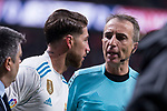 Real Madrid Sergio Ramos during La Liga match between Atletico de Madrid and Real Madrid at Wanda Metropolitano in Madrid, Spain. November 18, 2017. (ALTERPHOTOS/Borja B.Hojas)