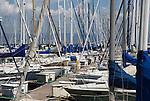 Yachts harbored at the South Beach marina, San Francisco