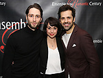 Daniel Rowan, Sarah Esty and Robert Fairchild attends the Off-Broadway Opening Night party for 'Mary Shelley's Frankenstein' at the Green Room on December 27, 2017 in New York City.