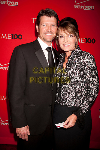 Sarah Palin and husband Todd Palin at Time's 100 most influential people in the world gala at Frederick P. Rose Hall, Jazz at Lincoln Center in New York City. May 4, 2010.<br /> CAP/MPI01<br /> ©MPI01/Capital Pictures
