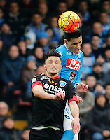 Napoli's Jose Callejon  during the  italian serie a soccer match,between SSC Napoli and Empoli      at  the San  Paolo   stadium in Naples  Italy , January 31, 2016