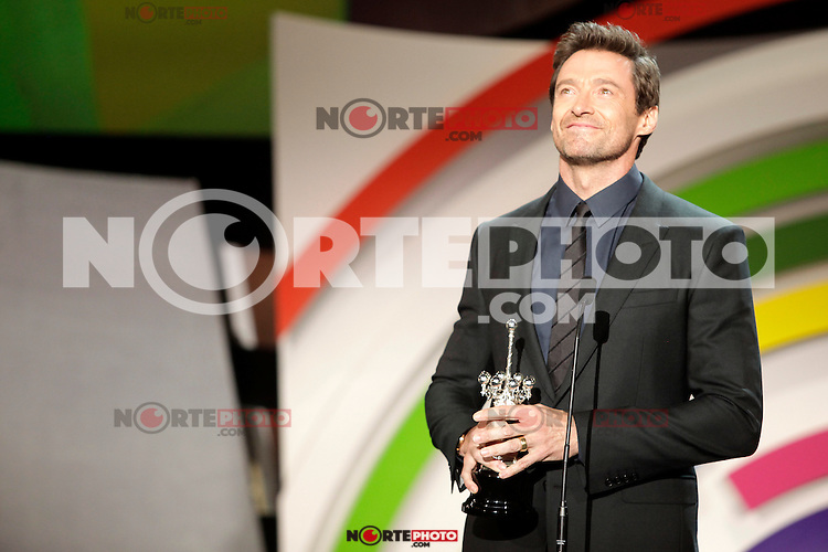Australian actor Hugh Jackman receives the Donostia Award during the 61st San Sebastian Film Festival in the Northern Spanish Basque city of San Sebastian on September 27, 2013. (ALTERPHOTOS/Victor Blanco) /NortePhoto