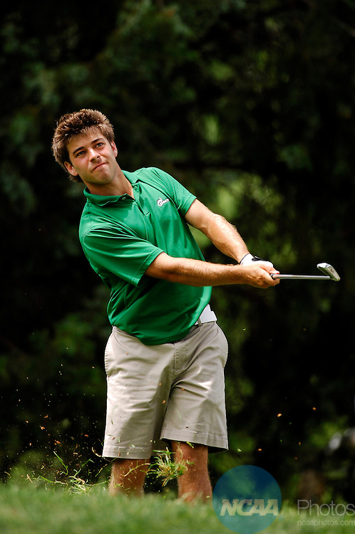 2 JUN 2007:  Andrew DiBitetto of Charlotte hits out of the 13th rough during the Division I Men's Golf Championship held at the Golden Horseshoe Golf Club, Gold Course in Williamsburg, VA.  Mannie Garcia/NCAA Photos