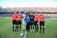 Stanford, CA - Saturday July 01, 2017: Cameron Blanchard, Daniel Radford, Jelle Van Damme, Chris Wondolowski, Allen Chapman, Kyle Atkins during a Major League Soccer (MLS) match between the San Jose Earthquakes and the Los Angeles Galaxy at Stanford Stadium.