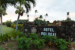 The Hotel Molokai in the town of Kaunakakai, Molokai, Hawaii, USA