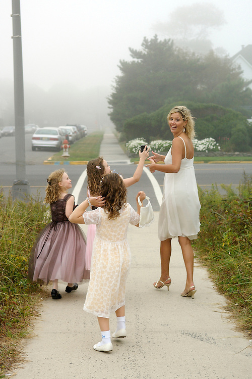 A Jersey Shore wedding on a foggy day.