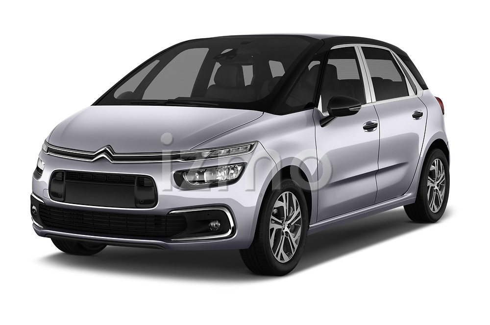 2017 Citroen C4-Picasso Shine 5 Door Mini Mpv Angular Front stock photos of front three quarter view