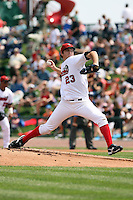 June 15th 2008:  Pitcher Bryan Morris of the Great Lakes Loons, Class-affiliate of the Los Angeles Dodgers, during a game at Dow Diamond in Midland, MI.  Photo by:  Mike Janes/Four Seam Images