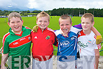 Micheal Brosnan, Sean Moynihan, Darren Lehane and Cathal Healy having fun at the Kilcummin GAA fun day on Sunday..
