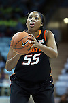 19 November 2014: Oklahoma State's LaShawn Jones. The University of North Carolina Tar Heels hosted the Oklahoma State University Cowgirls at Carmichael Arena in Chapel Hill, North Carolina in a 2014-15 NCAA Division I Women's Basketball game. UNC won the game 79-77.