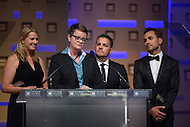 October 5, 2013  (Washington, DC)  Proposition 8 plaintiffs Sandy Stier, Kris Perry, Jeff Zarrillo, Paul Katami at the Human Rights Campaign National Dinner October 5, 2013.  (Photo by Don Baxter/Media Images International)