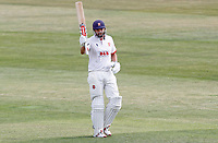 Nick Browne of Essex celebrates scoring fifty runs during Essex CCC vs Kent CCC, Bob Willis Trophy Cricket at The Cloudfm County Ground on 2nd August 2020