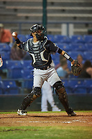 Missoula Osprey catcher Axel Andueza (14) during a Pioneer League game against the Great Falls Voyagers at Centene Stadium at Legion Park on August 19, 2019 in Great Falls, Montana. Missoula defeated Great Falls 1-0 in the second game of a doubleheader. (Zachary Lucy/Four Seam Images)