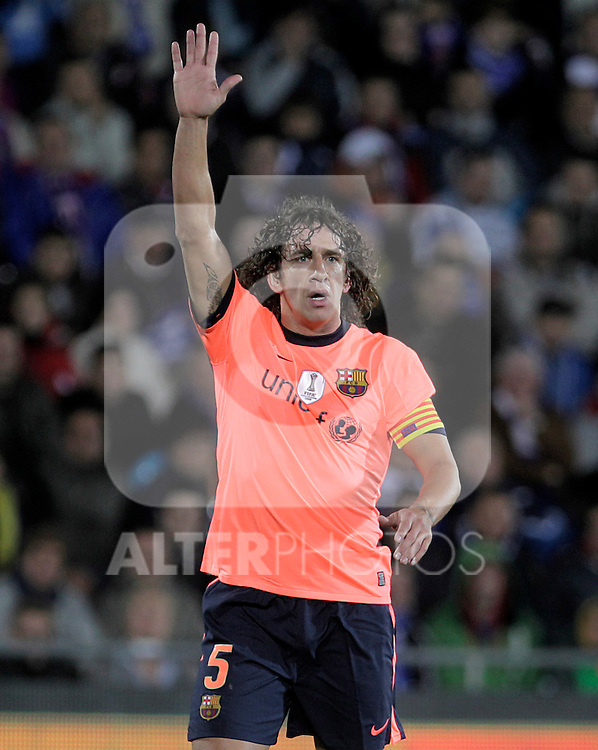 FC Barcelona's Carles Puyol during La Liga match.November 07,2010. (ALTERPHOTOS/Acero)