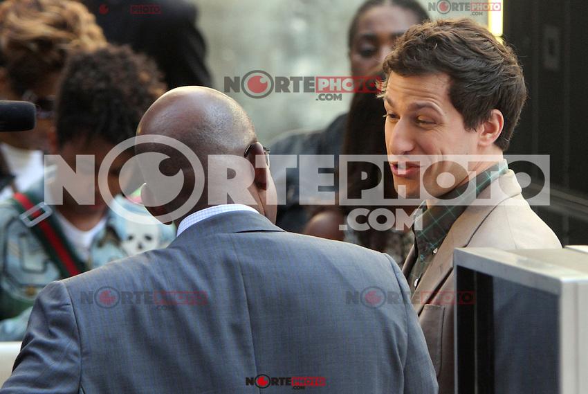 Al Roker interviews Andy Samberg on NBC's Today Show in New York City. June 8, 2012. © RW/MediaPunch Inc. NORTEPHOTO.COM