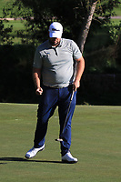 Jack Senior (ENG) makes his birdie on the 18th green during Round 3 of the Challenge Tour Grand Final 2019 at Club de Golf Alcanada, Port d'Alcúdia, Mallorca, Spain on Saturday 9th November 2019.<br /> Picture:  Thos Caffrey / Golffile<br /> <br /> All photo usage must carry mandatory copyright credit (© Golffile | Thos Caffrey)