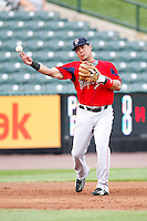 July 22, 2009:  Third Baseman Angel Chavez of the Pawtucket Red Sox during a game at Frontier Field in Rochester, NY.  Pawtucket is the Triple-A International League affiliate of the Boston Red Sox.  Photo By Mike Janes/Four Seam Images