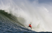 Carlos Burle. Mavericks Surf Contest in Half Moon Bay, California on February 13th, 2010.