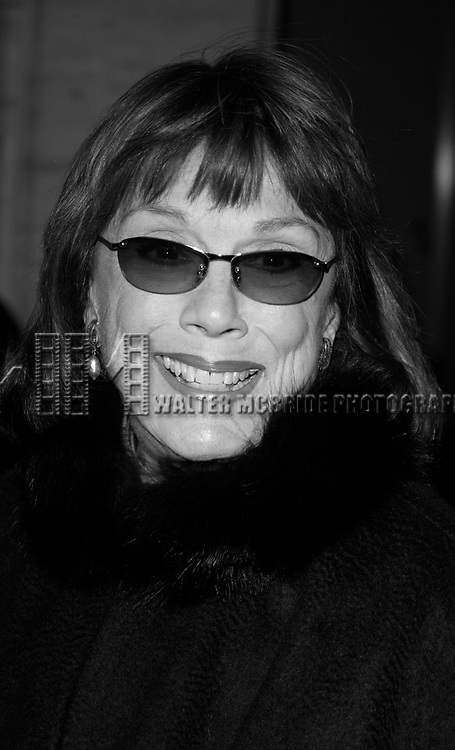 Phyllis Newman attends The Kennedy Center Presents <br />The Sondheim Celebration<br />Music and Lyrics by Stephen Sondheim<br />Avery Fisher Hall, Lincoln Center<br />New York City<br />October 21, 2002