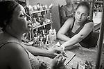 Havana, Cuba: In the nail salon