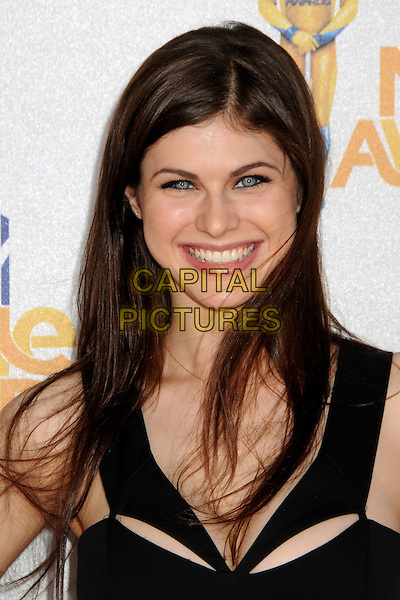 ALEXANDRA DADDARIO .MTV Movie Awards 2010 - Arrivals held at the Gibson Amphitheatre, Universal City, California, USA, 6th June 2010..portrait headshot smiling black .CAP/ADM/BP.©Byron Purvis/AdMedia/Capital Pictures.