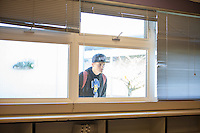 Brandan peers in through the window of the Hope Academy classroom, where many of his closest friends are also students. The alternative program is part of Sequim High School.