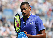 June 19th 2017, Queens Club, West Kensington, London; Aegon Tennis Championships, Day 1; Nick Kyrgios of Australia looking dejected after losing another point versus Donald Young of USA
