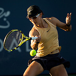 August 2, 2019: Saisai Zheng (CHN) in action where she defeated Amanda Anisimova (USA) 5-7, 7-5, 6-4 in the quarterfinals of the Mubadala Silicon Valley Classic at San Jose State in San Jose, California. ©Mal Taam/TennisClix/CSM