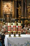 Święta Lipka, 2009-08-13. Sanktuarium Maryjne - Bazylika pw. Nawiedzenia NM Panny w Świętej Lipce, wnętrze