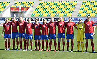20190301 - LARNACA , CYPRUS : Czech team pictured with Aneta Dedinova (2), Petra Bertholdova (4) , Lucie Martinkova (7) , Lucie Vonkova (9) , Kristyna Janku (10) , Klara Cahynova (12) ,  Michaela Dubcova (13) ,  Antonie Starova (15) , Barbora Ruzickova (16) , Tereza Szewieczkova (17) and Simona Necidova (19) during a women's soccer game between Finland and Czech Republic , on Friday 1 March 2019 at the AEK Arena in Larnaca , Cyprus . This is the second game in group A for Both teams during the Cyprus Womens Cup 2019 , a prestigious women soccer tournament as a preparation on the Uefa Women's Euro 2021 qualification duels. PHOTO SPORTPIX.BE | DAVID CATRY