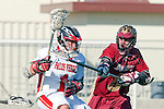 Palos Verdes, CA 03/17/10 - Peter Loddengaard (PV # 1) and Nick Farina (Downey # 5) in action during the Downey-Palos Verdes CIF sanctioned game at Palos Verdes High School, PV defeated Downey 17-6.