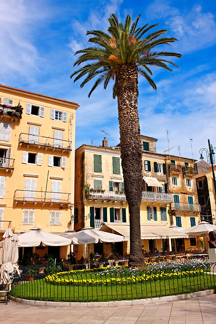 Square & Bars of Corfu, Greek Ionian Islands