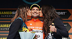 Jacopo Mosca (ITA) Wilier Triestina-Selle Italia wins the Sprinters Classification Maglia Arancione after Stage 7 of the 53rd edition of the Tirreno-Adriatico 2018 a 10km individual time trial around San Benedetto del Tronto, Italy. 13th March 2018.<br /> Picture: LaPresse/Spada | Cyclefile<br /> <br /> <br /> All photos usage must carry mandatory copyright credit (&copy; Cyclefile | LaPresse/Spada)