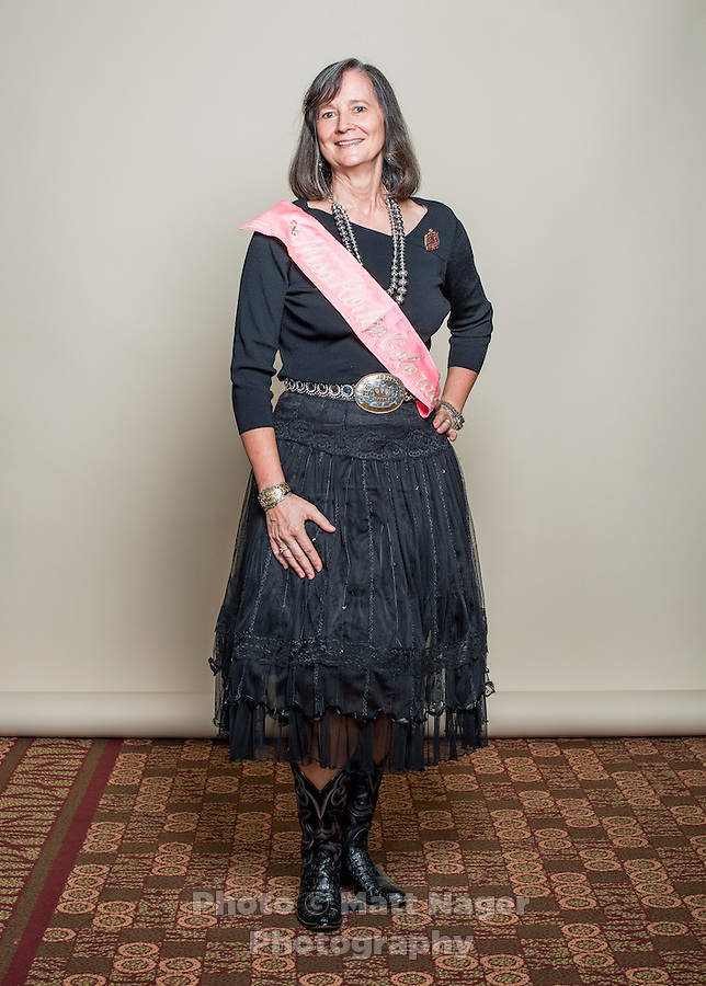 1978 winner of the Miss Rodeo Queen Colorado competition Barbara Seitz Williams  at the 2016 Miss Rodeo Colorado competition during the Greely Stampede in Greely, Colorado, July 3, 2015.<br /> <br /> Photo by Matt Nager