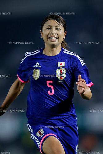 Aya  Sameshima (JPN), <br /> MAY 24, 2015 - Football / Soccer : MS&amp;AD Nadeshiko Cup 2015 match between Womens Japan and Womens New Zealand at Marugame stadium, Kagawa, Japan. (Photo by AFLO)