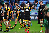Guy Thompson of Wasps celebrates the win. European Rugby Champions Cup match, between Wasps and Connacht Rugby on December 11, 2016 at the Ricoh Arena in Coventry, England. Photo by: Patrick Khachfe / JMP