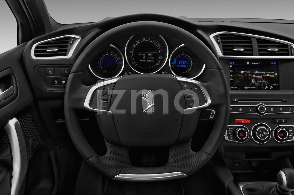 Car pictures of steering wheel view of a 2016 Ds DS4 Opera-Blue 5 Door Hatchback Steering Wheel