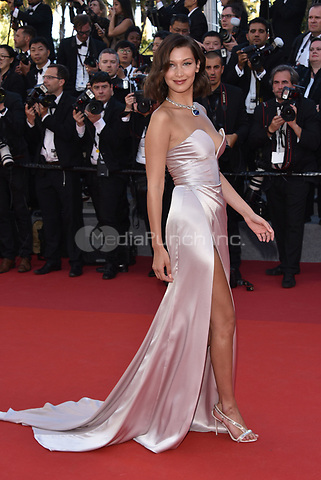 Bella Hadid<br /> arrivals at the opening gala premiere at the 70th Cannes Film Festival, France, May 17, 2017<br /> CAP/PL<br /> &copy;Phil Loftus/Capital Pictures /MediaPunch ***NORTH AND SOUTH AMERICAS ONLY***