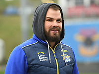 Picture by Anna Gowthorpe/SWpix.com - 15/04/2018 - Rugby League - Womens Super League - Bradford Bulls v Leeds Rhinos - Coral Windows Stadium, Bradford, England - Leeds Rhinos coach Adam Cuthbertson