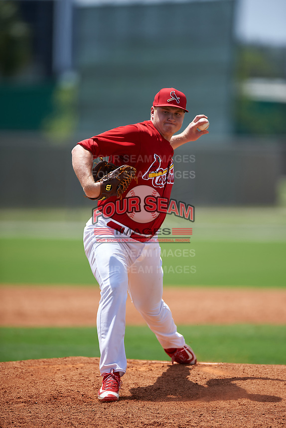 St. Louis Cardinals pitcher Michael Heesch (53) during a Minor League Spring Training game against the New York Mets on March 31, 2016 at Roger Dean Sports Complex in Jupiter, Florida.  (Mike Janes/Four Seam Images)