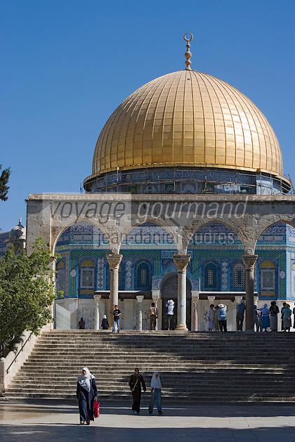 Asie/Israël/Judée/Jérusalem: le Haram el-Chérif et le Dôme du Rocher escaliers et quanatir