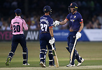 Daniel Lawrence and Ryan ten Doeschate of Essex during Essex Eagles vs Middlesex, Vitality Blast T20 Cricket at The Cloudfm County Ground on 6th July 2018