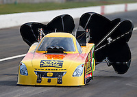Sept. 1, 2013; Clermont, IN, USA: NHRA funny car driver Bob Bode during qualifying for the US Nationals at Lucas Oil Raceway. Mandatory Credit: Mark J. Rebilas-