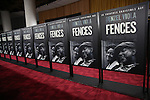 Red Carpet atmosphere at the 'Fences' New York screening at Rose Theater, Jazz at Lincoln Center on December 19, 2016 in New York City.