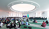Baitul Futuh Mosque, prior to an event to commemorate the establishment of The Ahmadiyya Caliphate, a non-political caliphate established on May 27, 1908. &nbsp;<br /> <br /> Following on from the tragic events in Manchester, Ed discussed the events in Manchester and reasserted the importance of traditional liberal values in defeating extremism.&nbsp;<br /> <br /> 27th May 2017 <br /> at the Baitul Futuh Mosque, Morden, Surrey <br /> <br /> <br /> Photograph by Elliott Franks <br /> Image licensed to Elliott Franks Photography Services